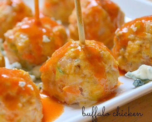 Buffalo Chicken Meatballs - Shrinking Kitchen