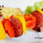 Simple Pepper Sausage Skewers
